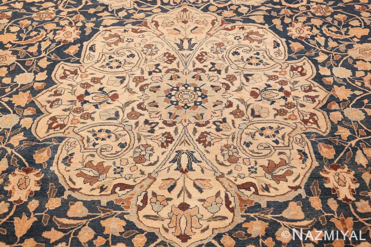 antique navy background tabriz persian rug 49635 design Nazmiyal