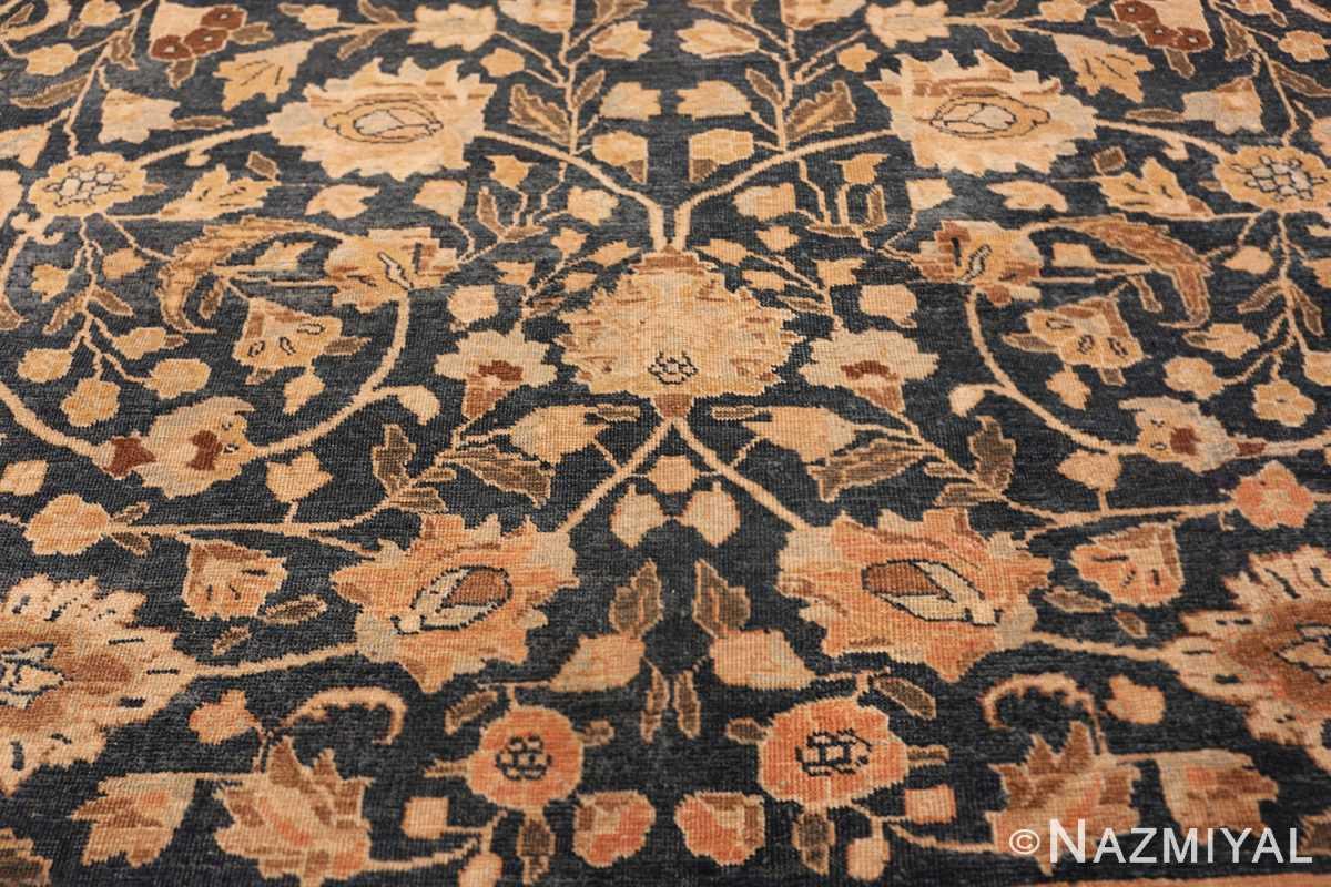 antique navy background tabriz persian rug 49635 part Nazmiyal