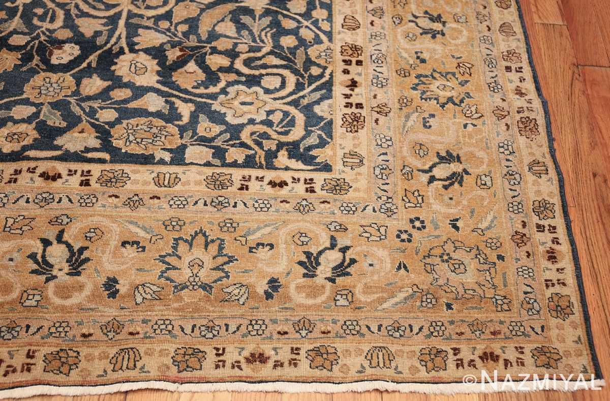 antique navy background tabriz persian rug 49635 side Nazmiyal