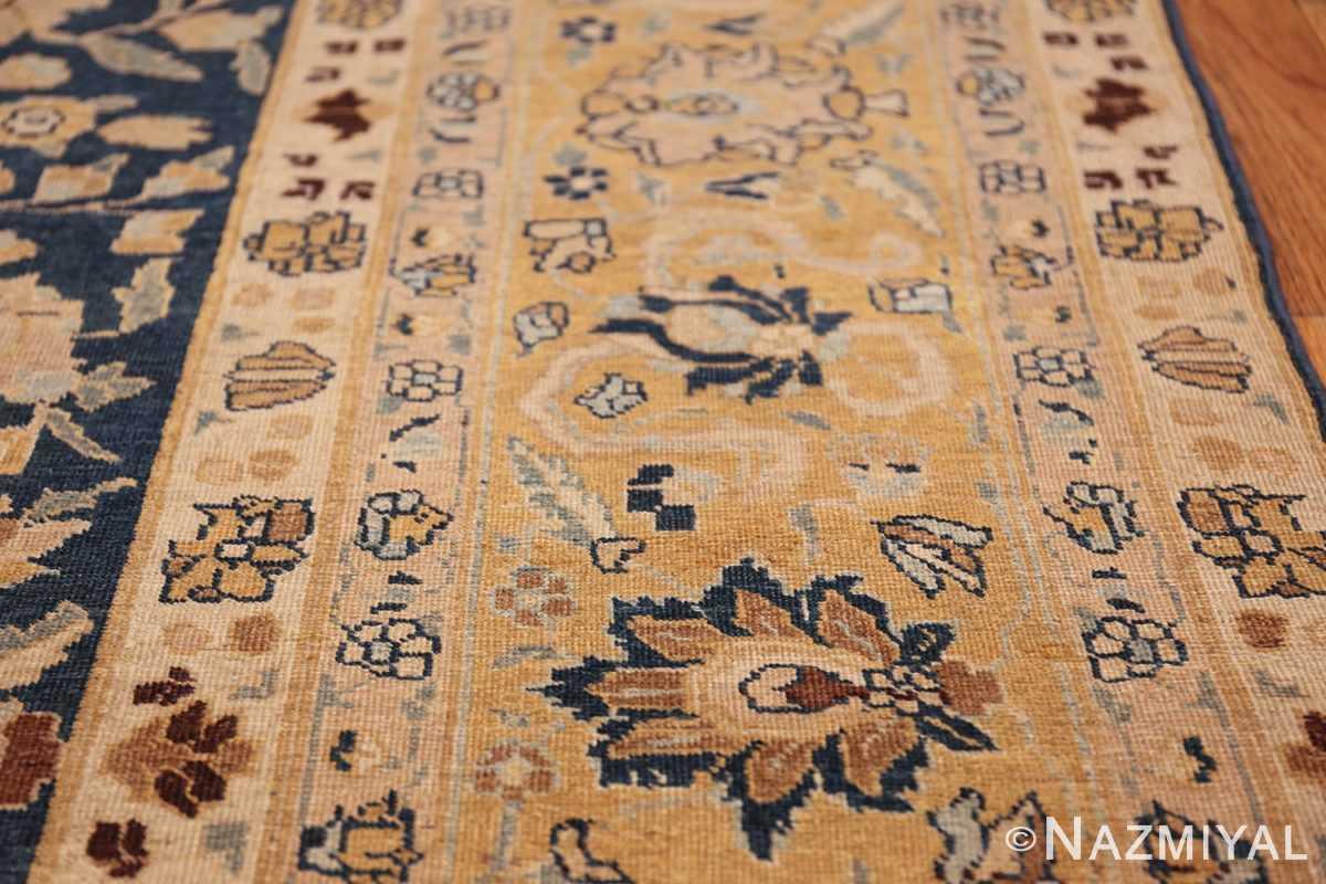 antique navy background tabriz persian rug 49635 yellow Nazmiyal