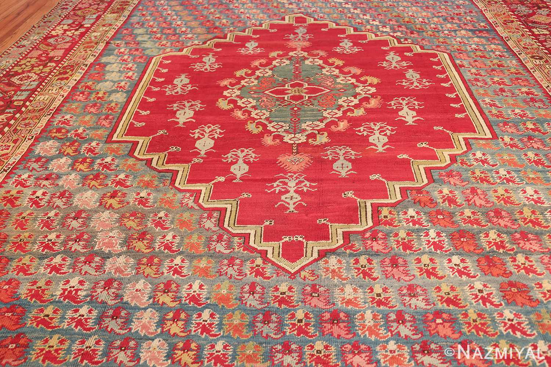 antique room size ghiordes turkish rug 49657 field Nazmiyal