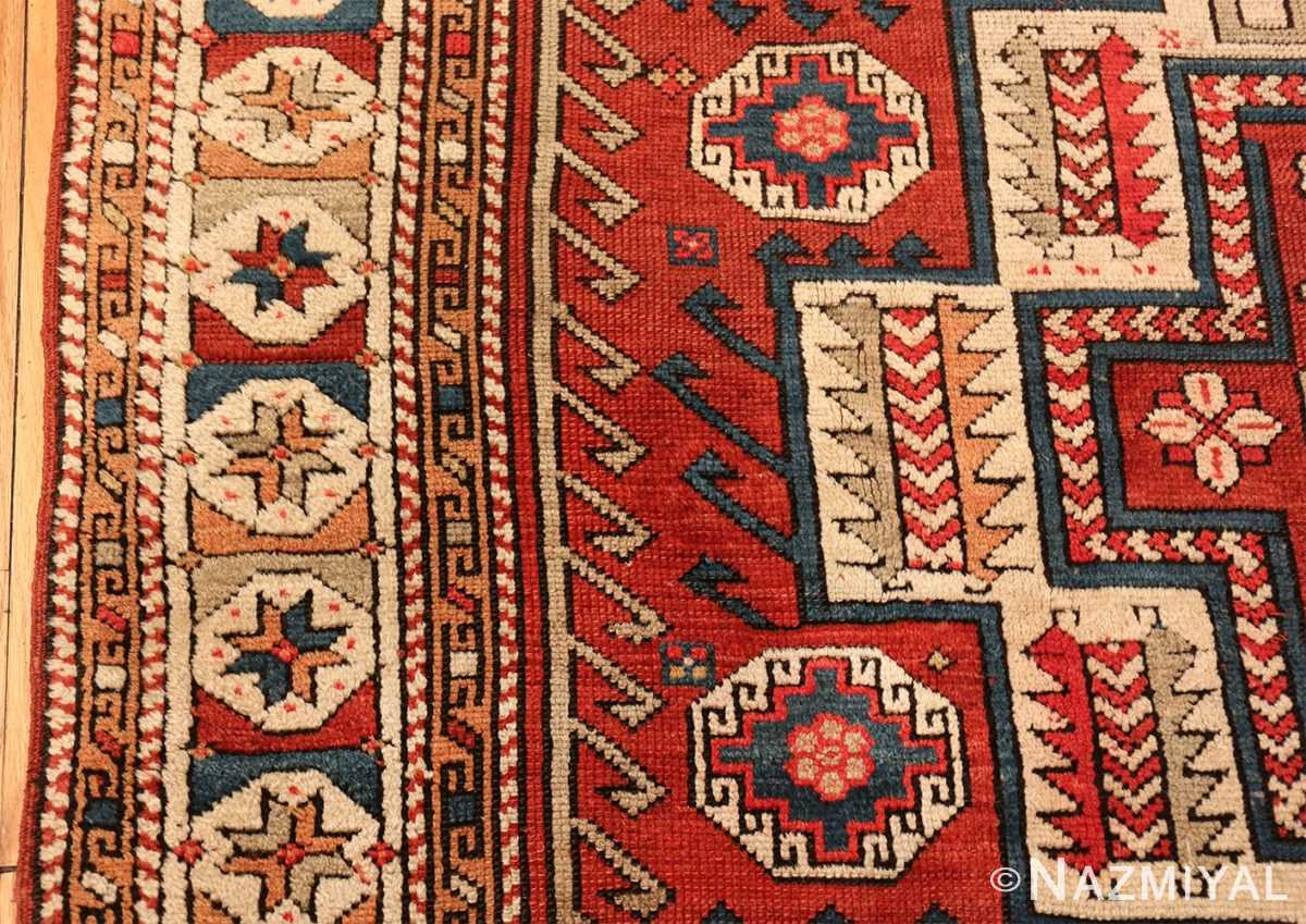 antique small size west anatolian bergama rug 49505 border Nazmiyal