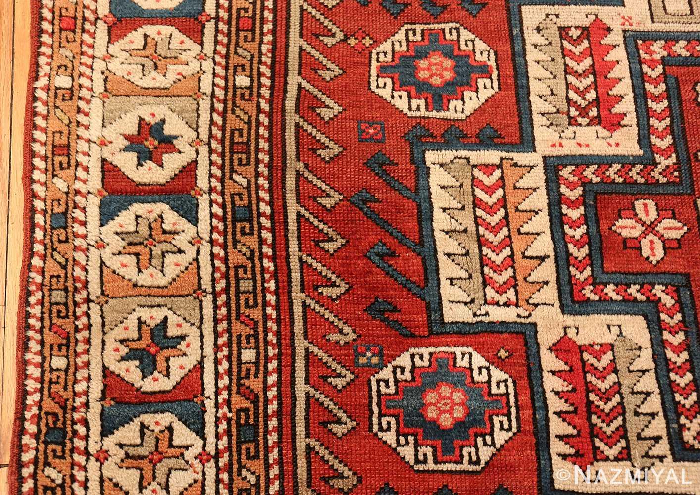 antique small size west anatolian bergama rug 49505 border Nazmiyal
