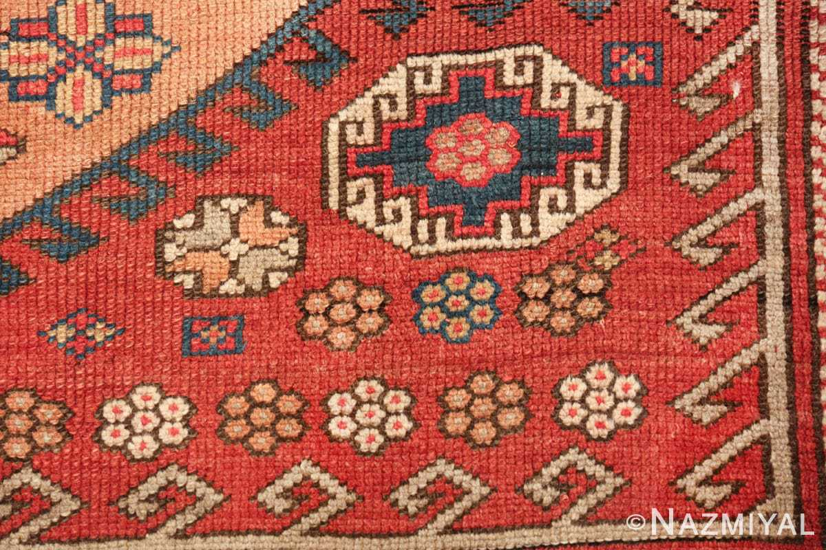 antique small size west anatolian bergama rug 49505 closeup Nazmiyal