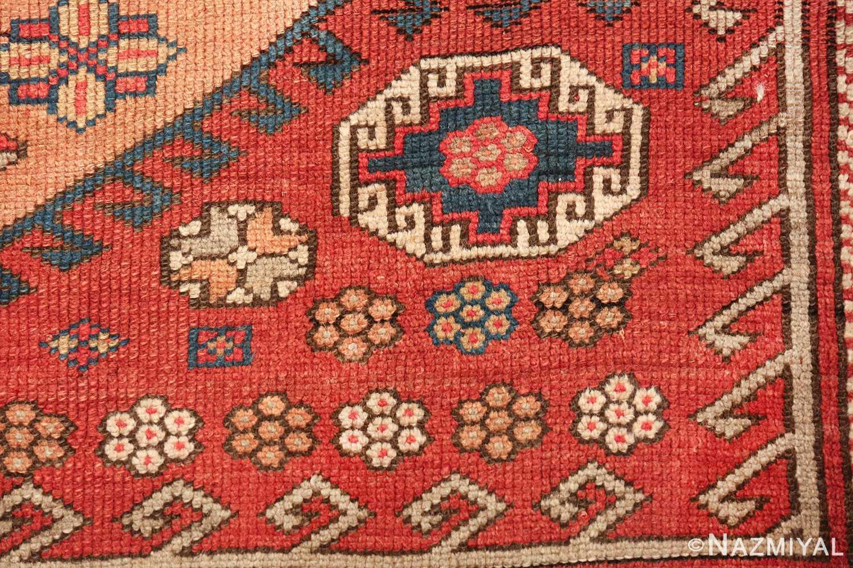 antique small size west anatolian bergama rug 49505 closeup Nazmiyal