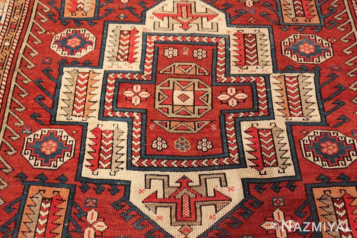 antique small size west anatolian bergama rug 49505 medallion Nazmiyal