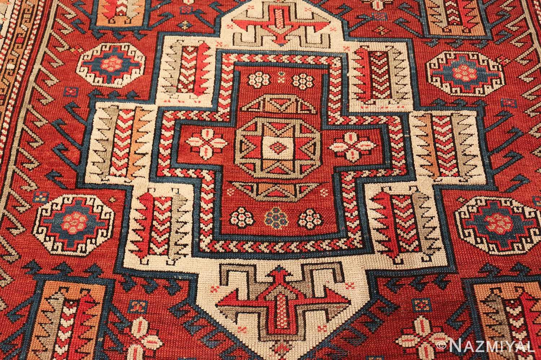 antique small size west anatolian bergama rug 49505 medallion Nazmiyal