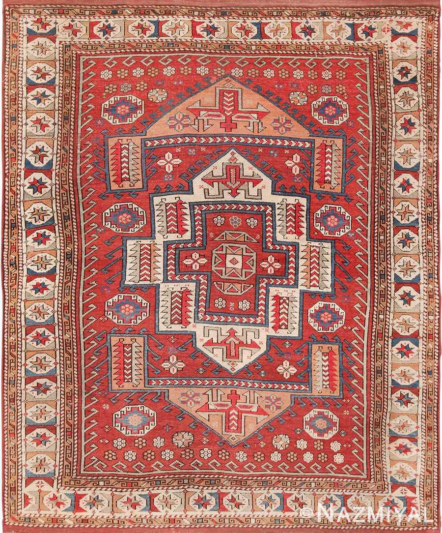 Small Tribal Antique West Anatolian Turkish Bergama Rug 49505 by Nazmiyal