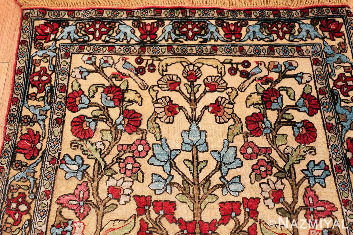 antique souf silk kashan persian rug 49615 top Nazmiyal