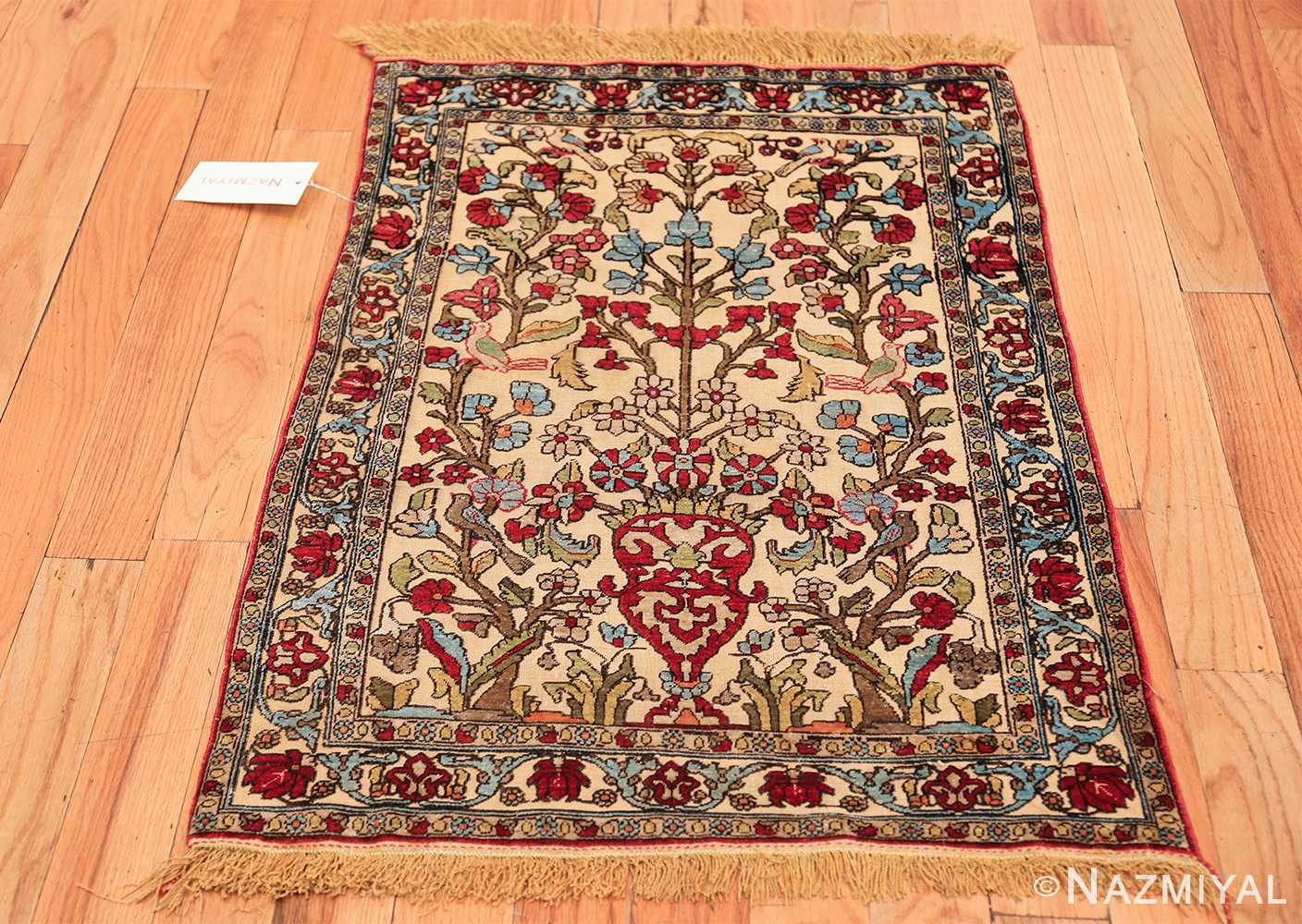 antique souf silk kashan persian rug 49615 whole Nazmiyal