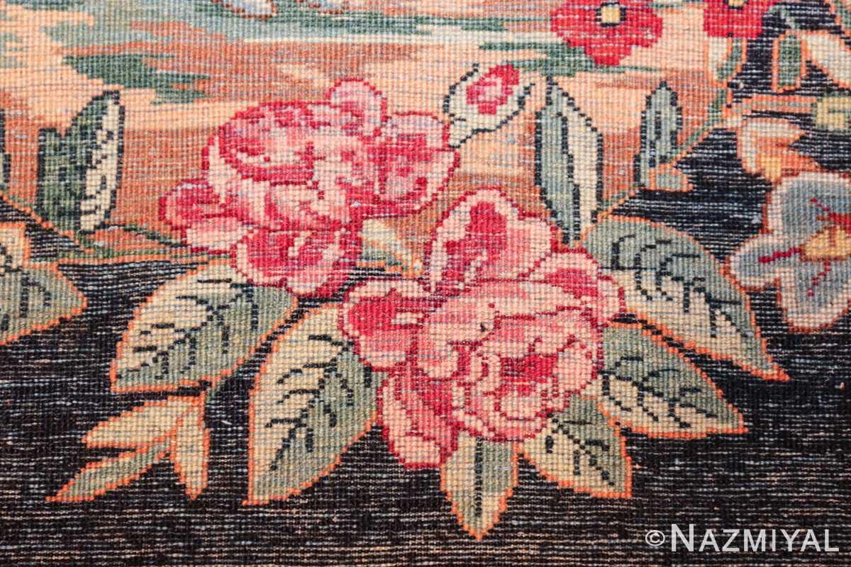 antique square small size kerman persian rug 49614 knots Nazmiyal