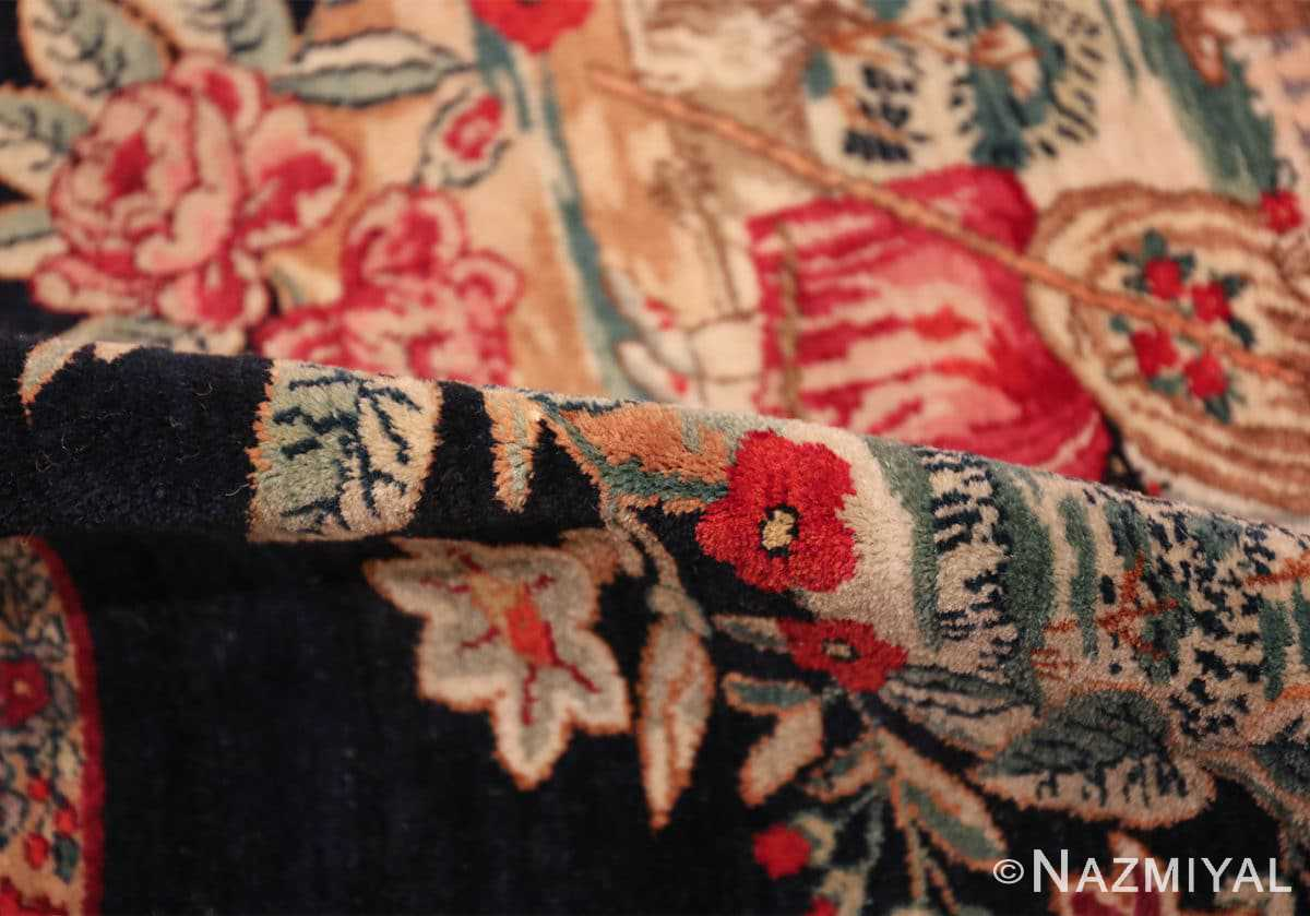 antique square small size kerman persian rug 49614 pile Nazmiyal