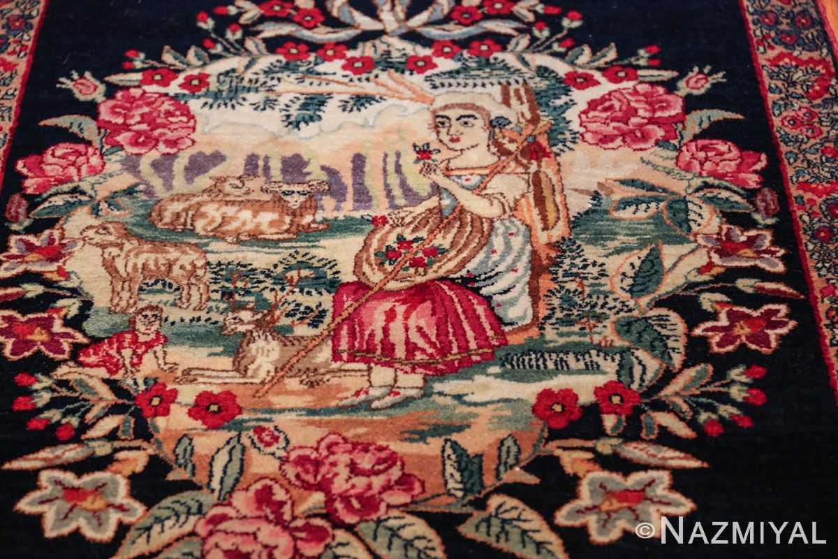 antique square small size kerman persian rug 49614 shephard Nazmiyal
