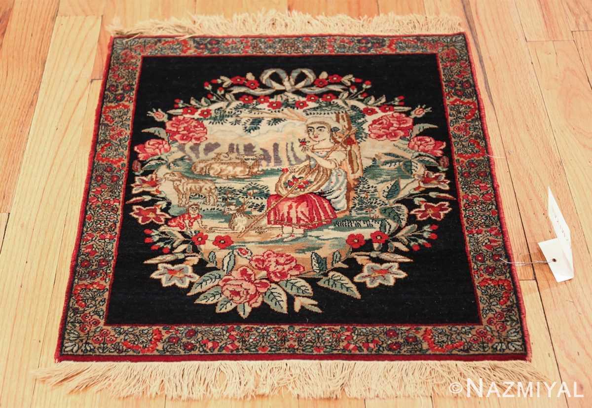 antique square small size kerman persian rug 49614 whole Nazmiyal