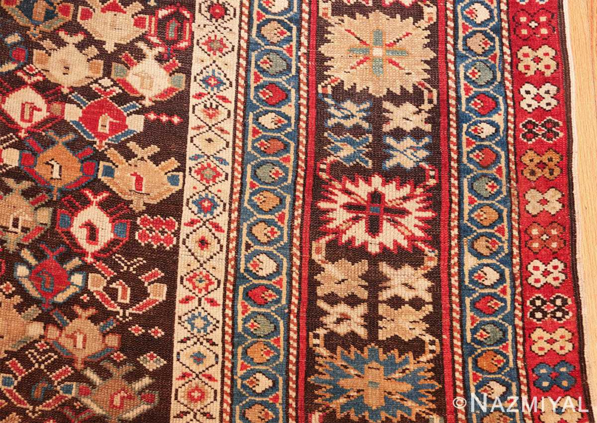 antique tribal kuba caucasian runner rug 49643 border Nazmiyal