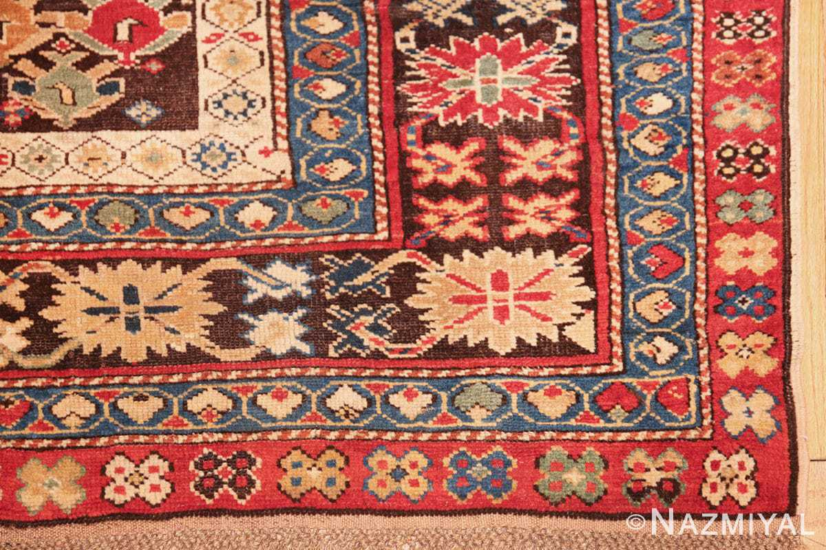 antique tribal kuba caucasian runner rug 49643 corner Nazmiyal