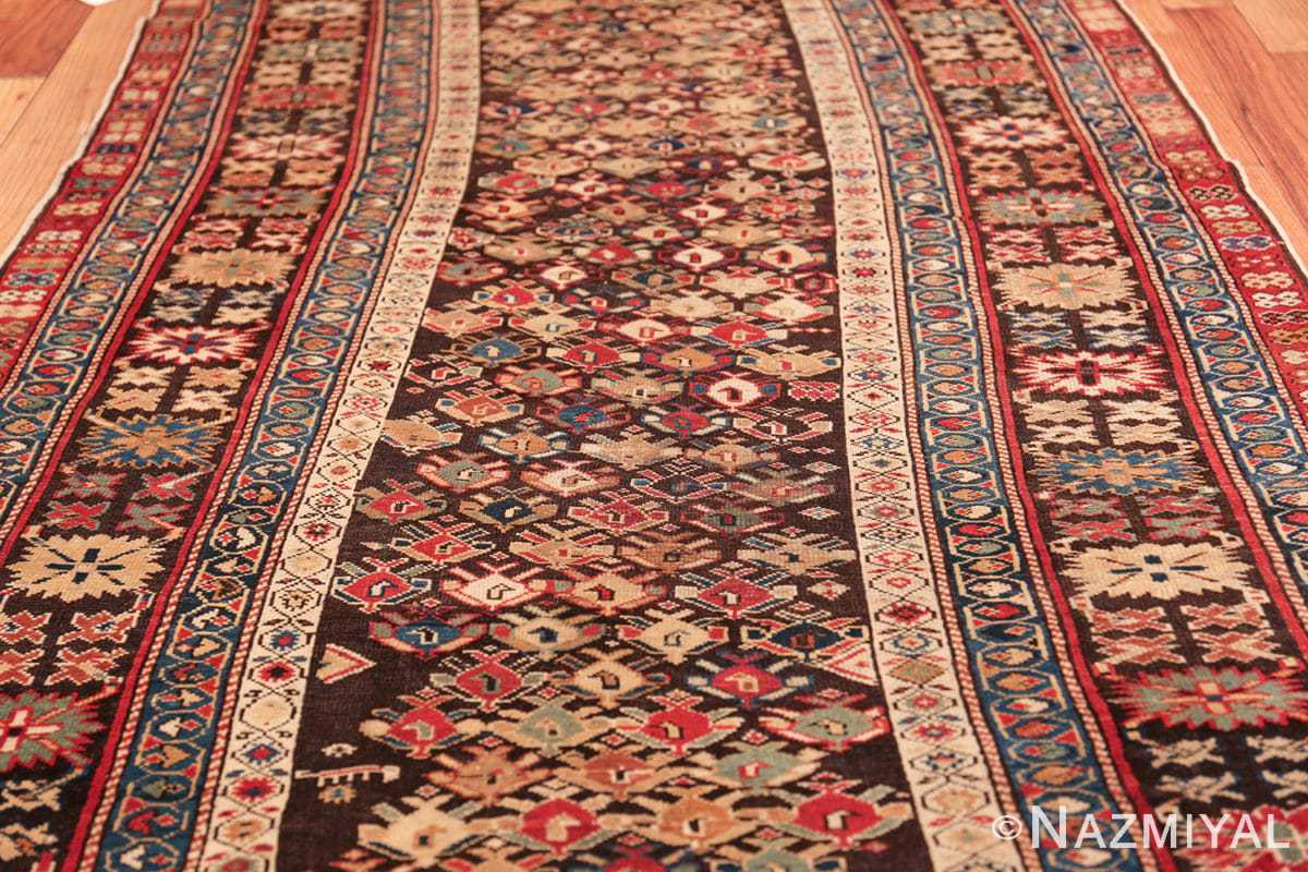 antique tribal kuba caucasian runner rug 49643 field Nazmiyal