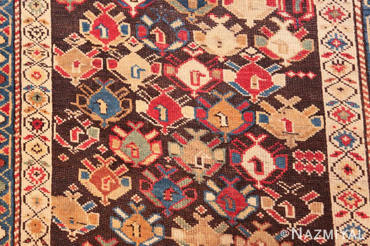 antique tribal kuba caucasian runner rug 49643 shapes Nazmiyal