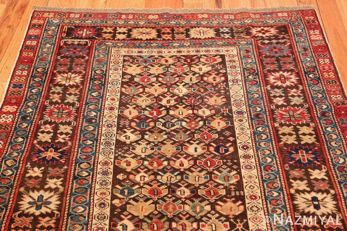 antique tribal kuba caucasian runner rug 49643 top Nazmiyal