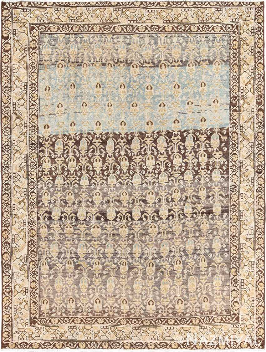 Decorative Antique Tribal Paisley Design Persian Malayer Rug 49627 by Nazmiyal