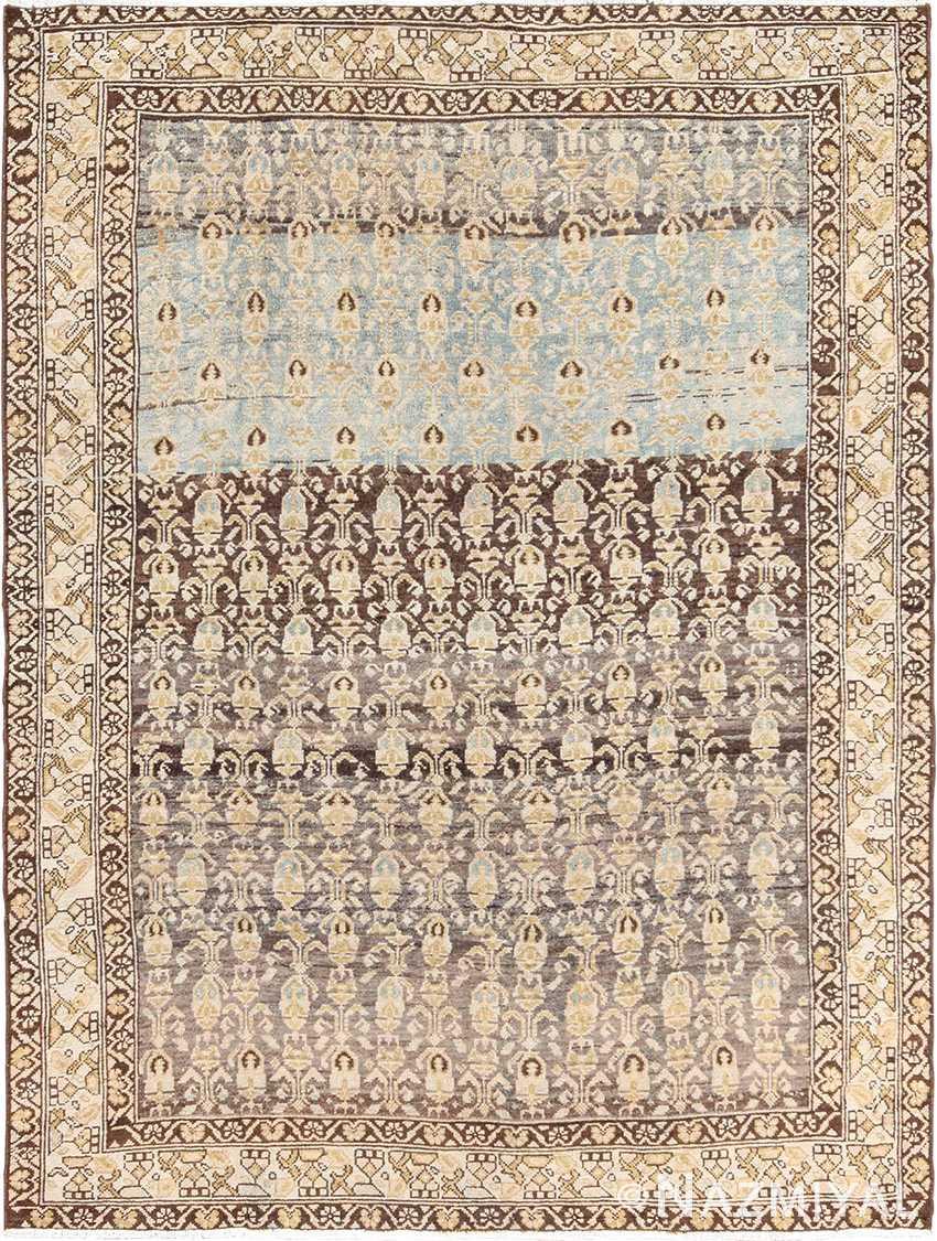 Decorative Antique Tribal Paisley Design Persian Malayer Rug 49627 by Nazmiyal