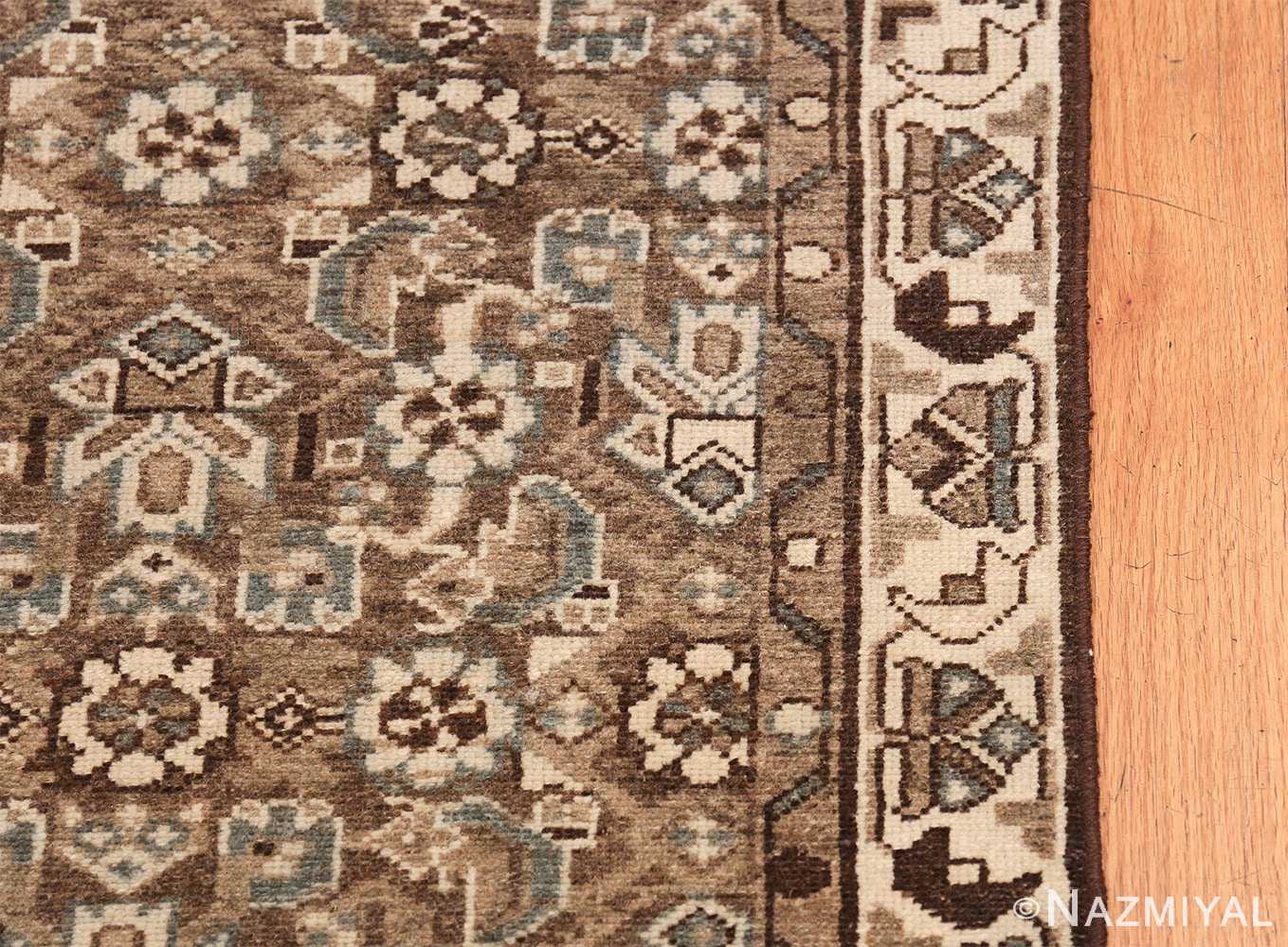 Decorative Earth Tone Antique Persian Malayer Runner Rug 49630 Border Design Nazmiyal