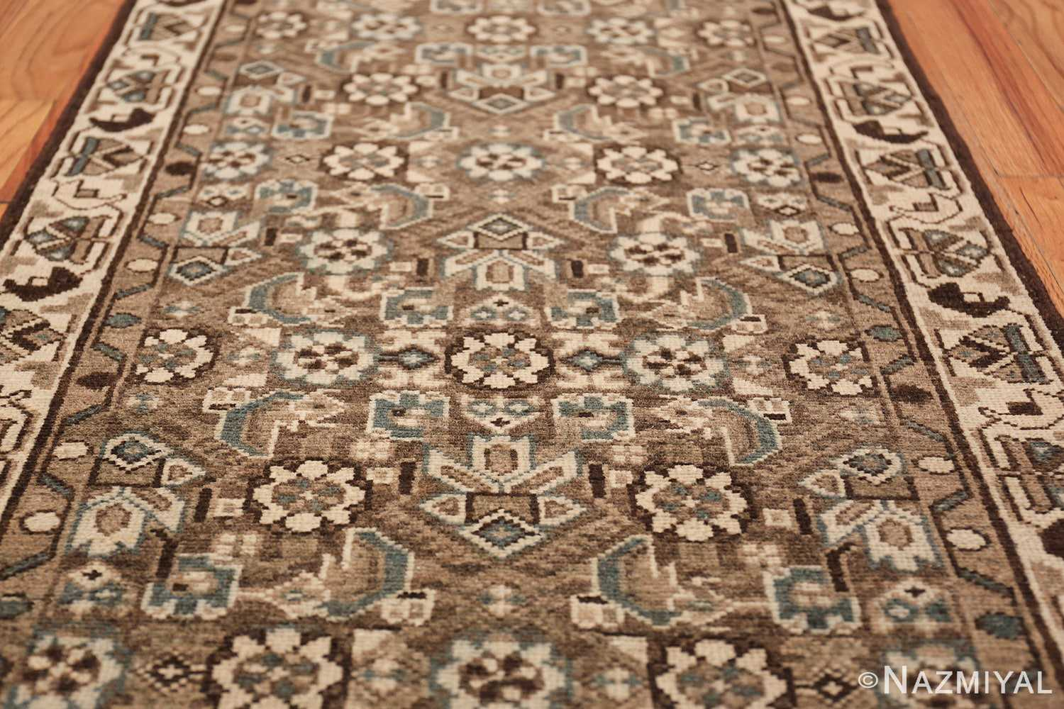 Decorative Earth Tone Antique Persian Malayer Runner Rug 49630 Middle Part Nazmiyal