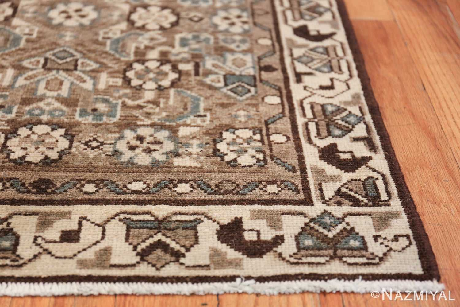 Decorative Earth Tone Antique Persian Malayer Runner Rug 49630 Side Corner Nazmiyal