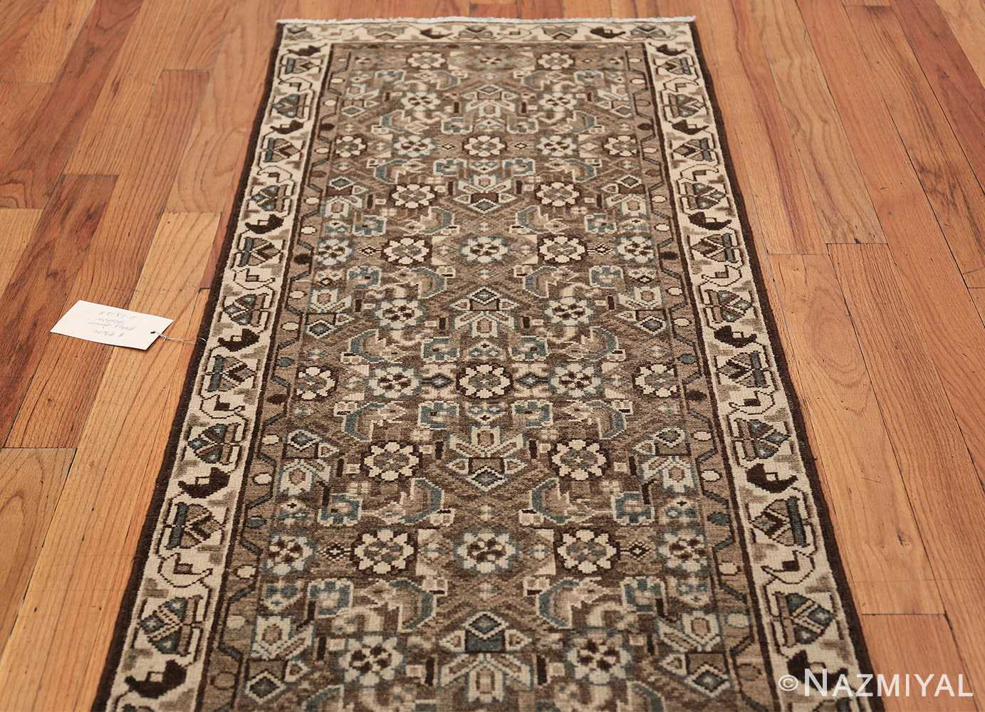 Decorative Earth Tone Antique Persian Malayer Runner Rug 49630 Top Design Nazmiyal