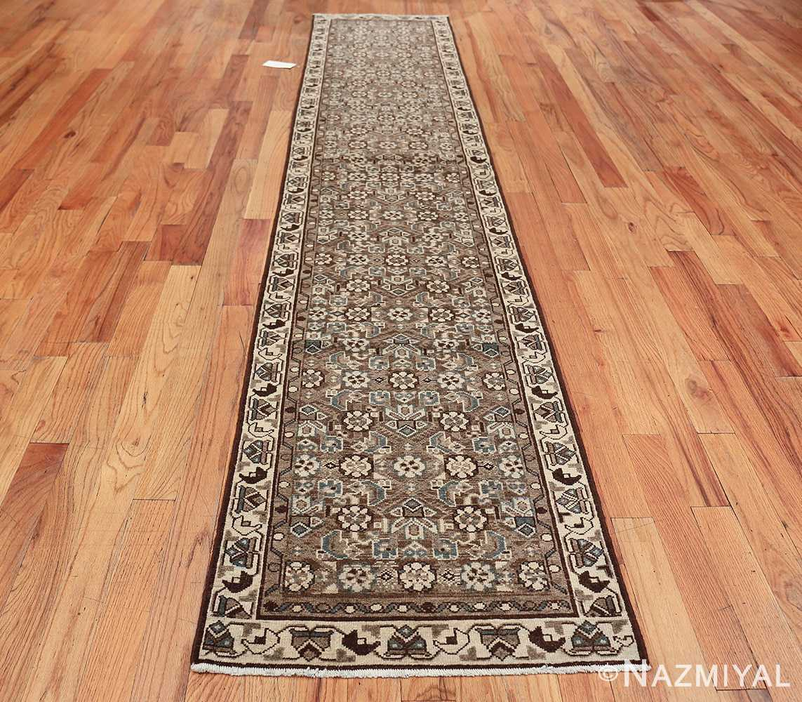 Decorative Earth Tone Antique Persian Malayer Runner Rug 49630 Whole Design Nazmiyal