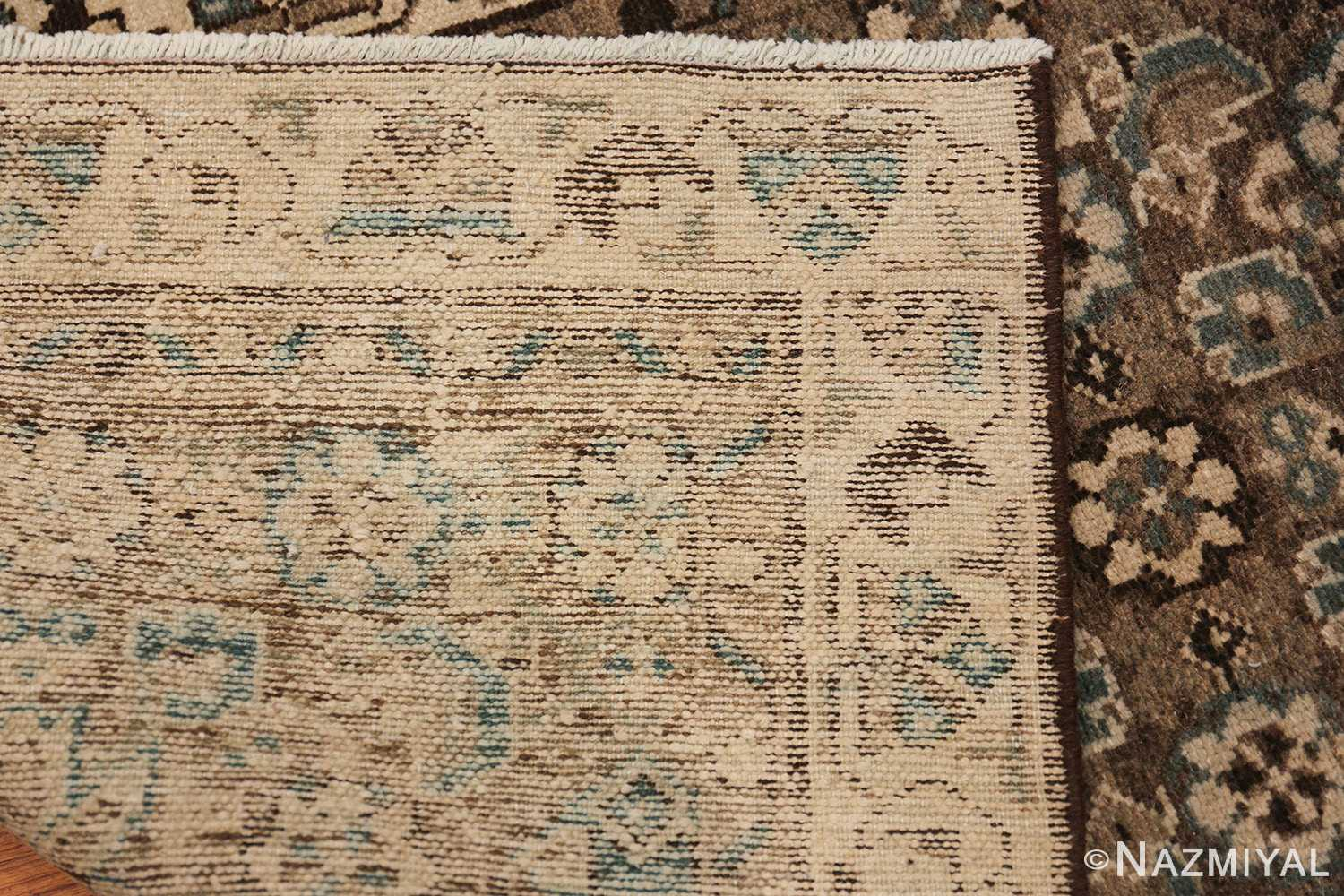 Decorative Earth Tone Antique Persian Malayer Runner Rug 49630 Woven Knots Nazmiyal