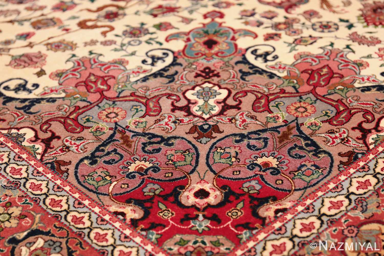 fine silk and wool large vintage tabriz persian rug 60016 colors Nazmiyal