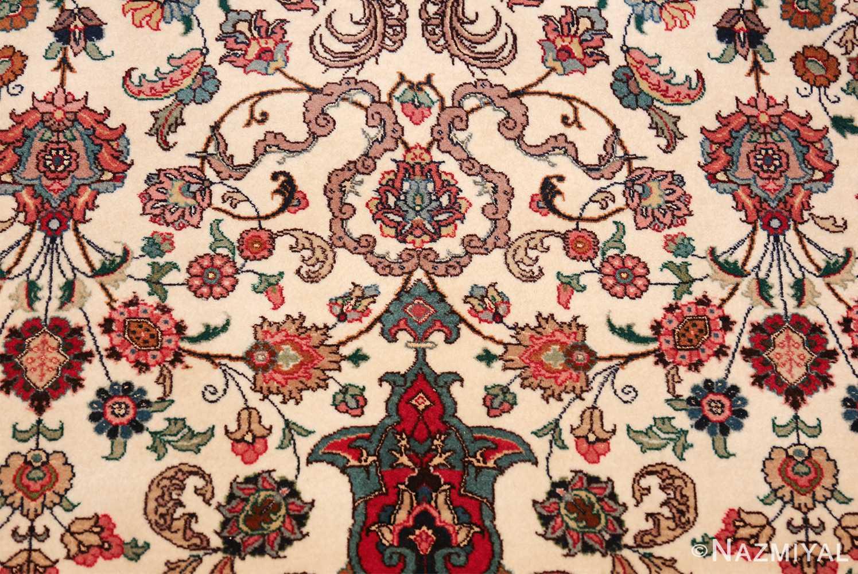 fine silk and wool large vintage tabriz persian rug 60016 delight Nazmiyal