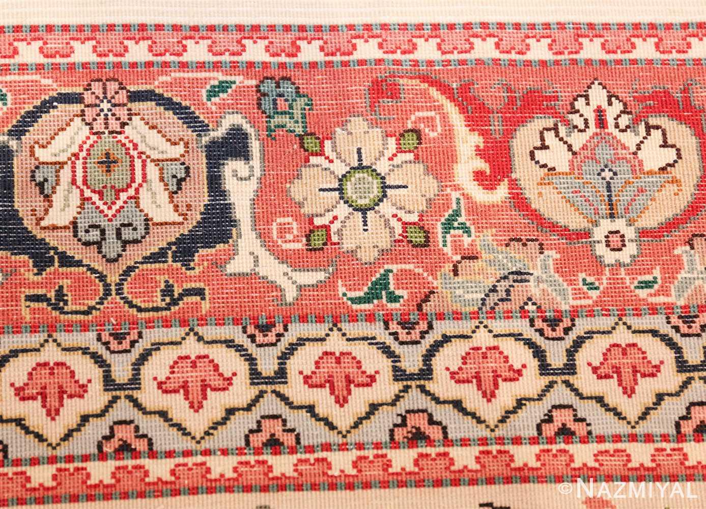 fine silk and wool large vintage tabriz persian rug 60016 knots Nazmiyal