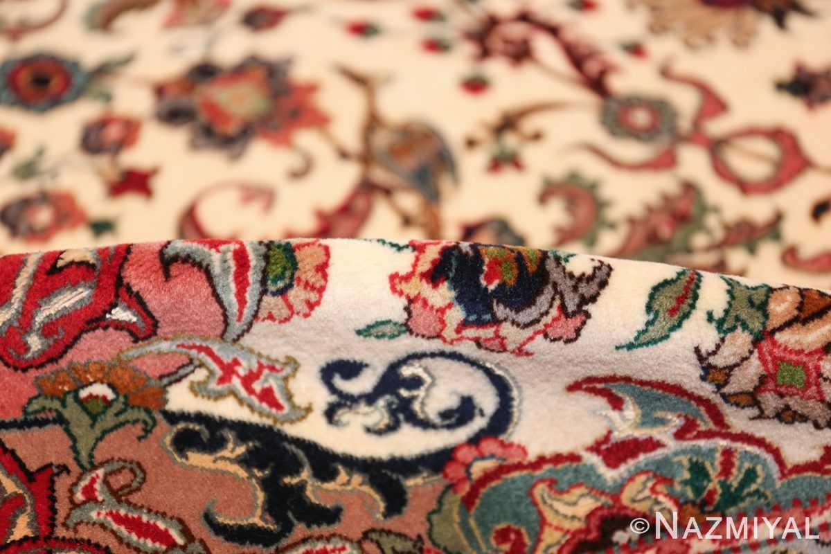 fine silk and wool large vintage tabriz persian rug 60016 pile Nazmiyal