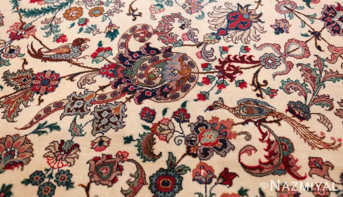 fine silk and wool large vintage tabriz persian rug 60016 purple Nazmiyal