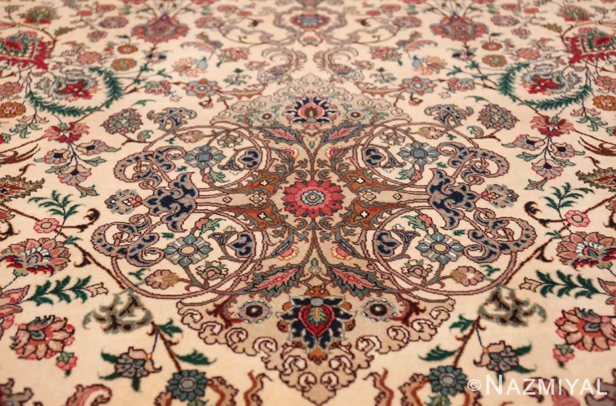 fine silk and wool large vintage tabriz persian rug 60016 tiara Nazmiyal