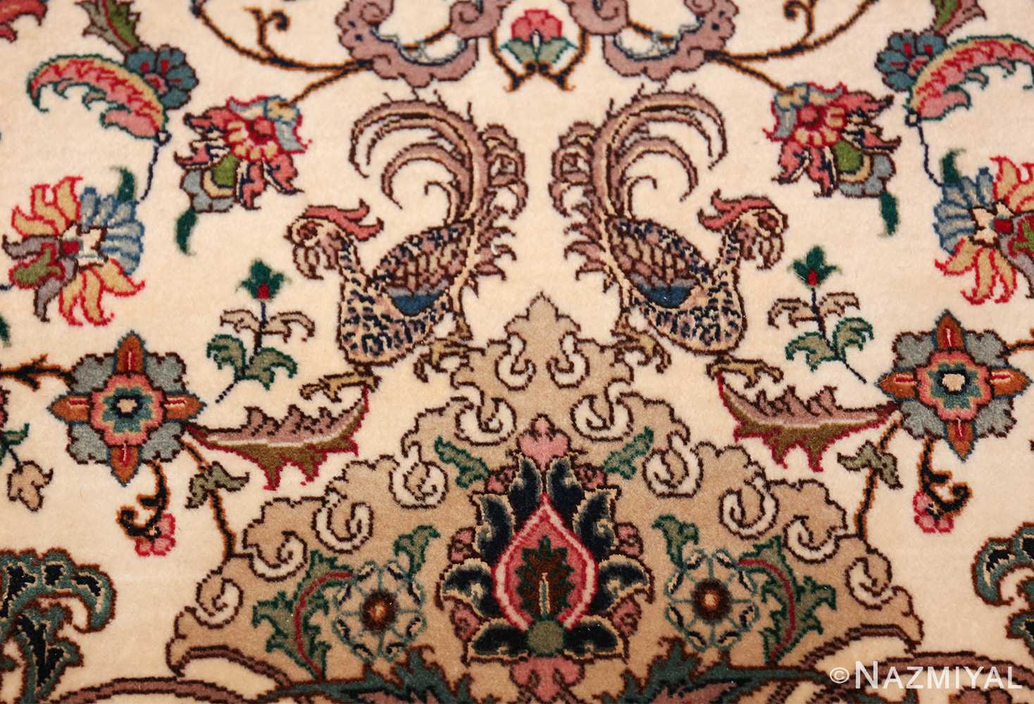 fine silk and wool large vintage tabriz persian rug 60016 turkey Nazmiyal
