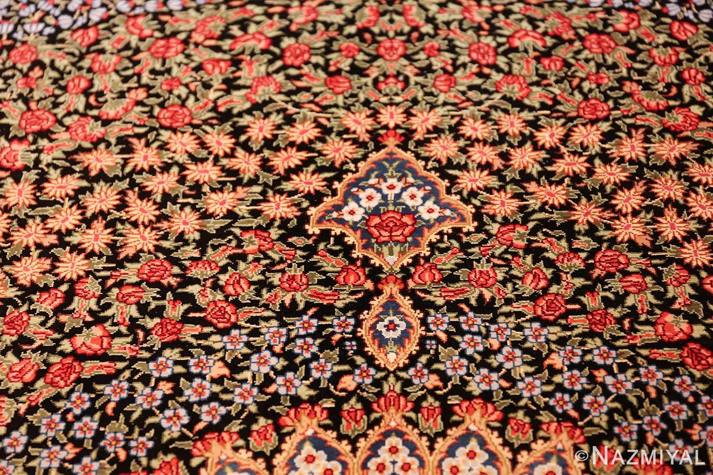 floral silk vintage qum persian rug 49622 tiara Nazmiyal