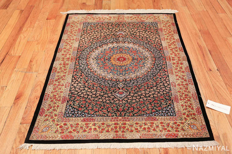 floral silk vintage qum persian rug 49622 whole Nazmiyal