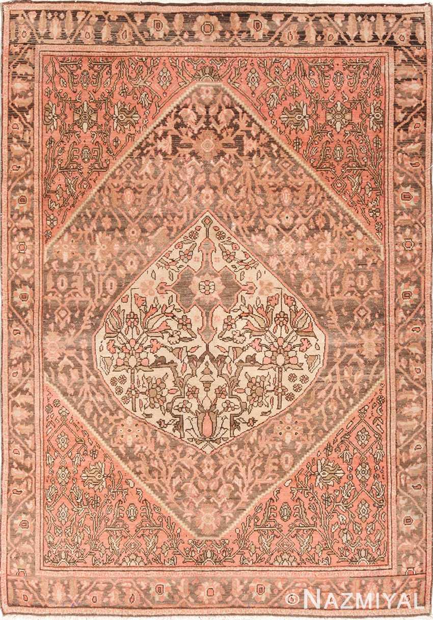 Small Tribal Geometric Antique Persian Malayer Rug 49640 by Nazmiyal