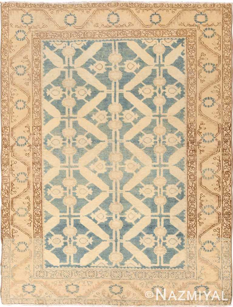 Geometric Small Scatter Size Antique Tabriz Persian Rug 49647 by Nazmiyal