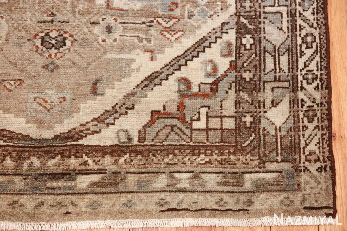 geometric designed antique tribal malayer persian runner rug 49629 corner Nazmiyal