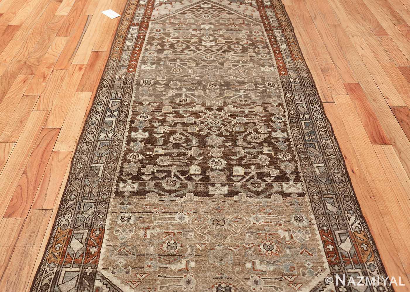 geometric designed antique tribal malayer persian runner rug 49629 field Nazmiyal