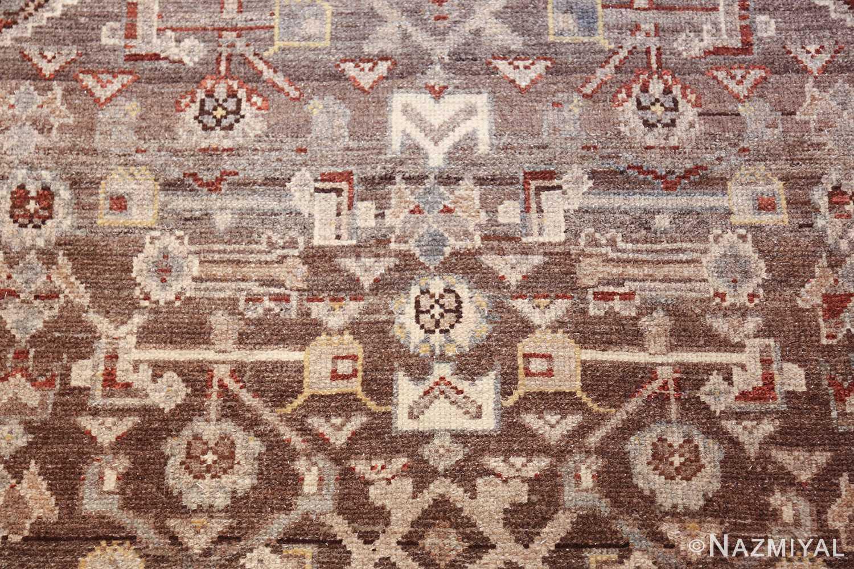 geometric designed antique tribal malayer persian runner rug 49629 flower Nazmiyal