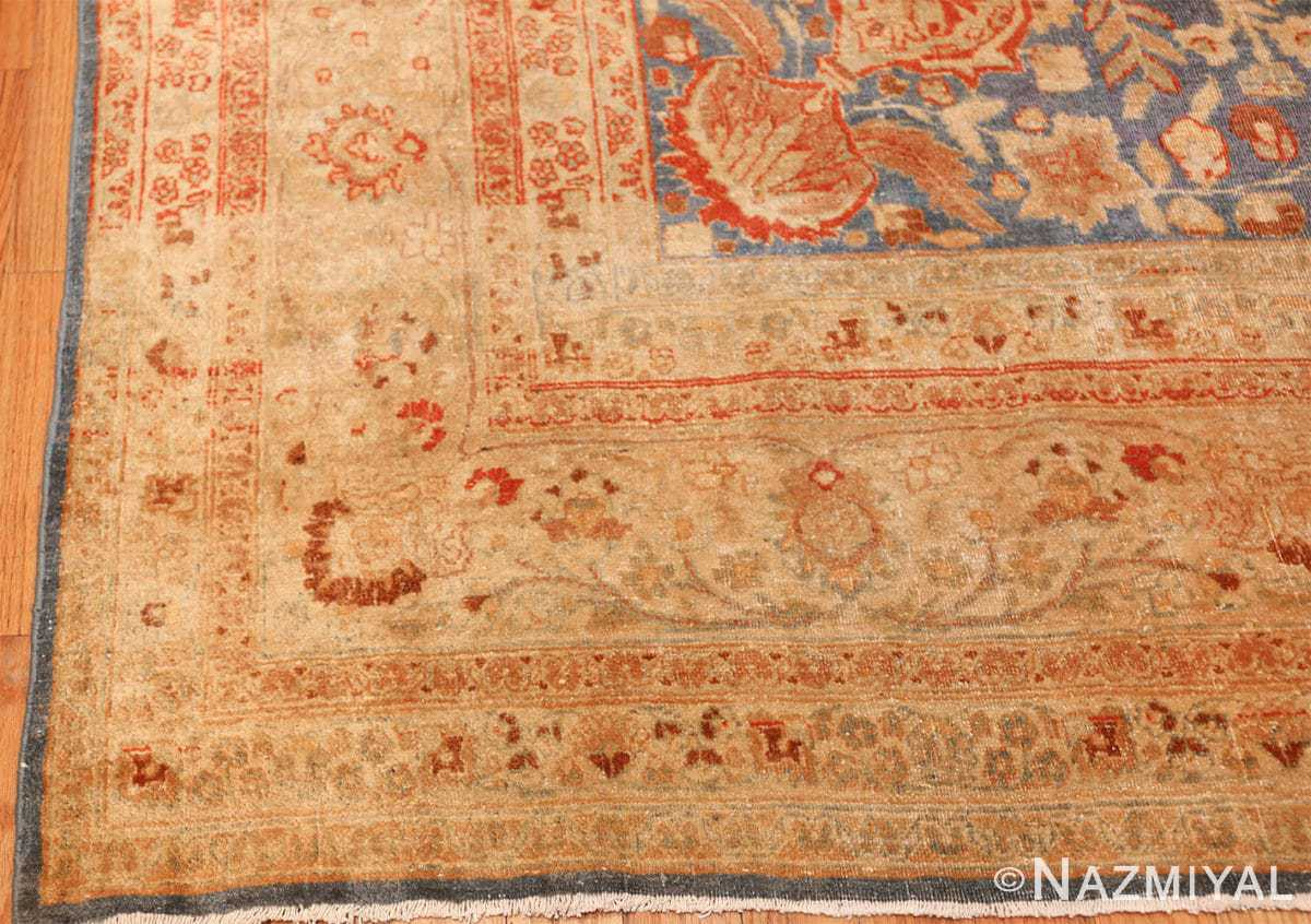 gray background antique khorassan persian rug 49634 corner Nazmiyal