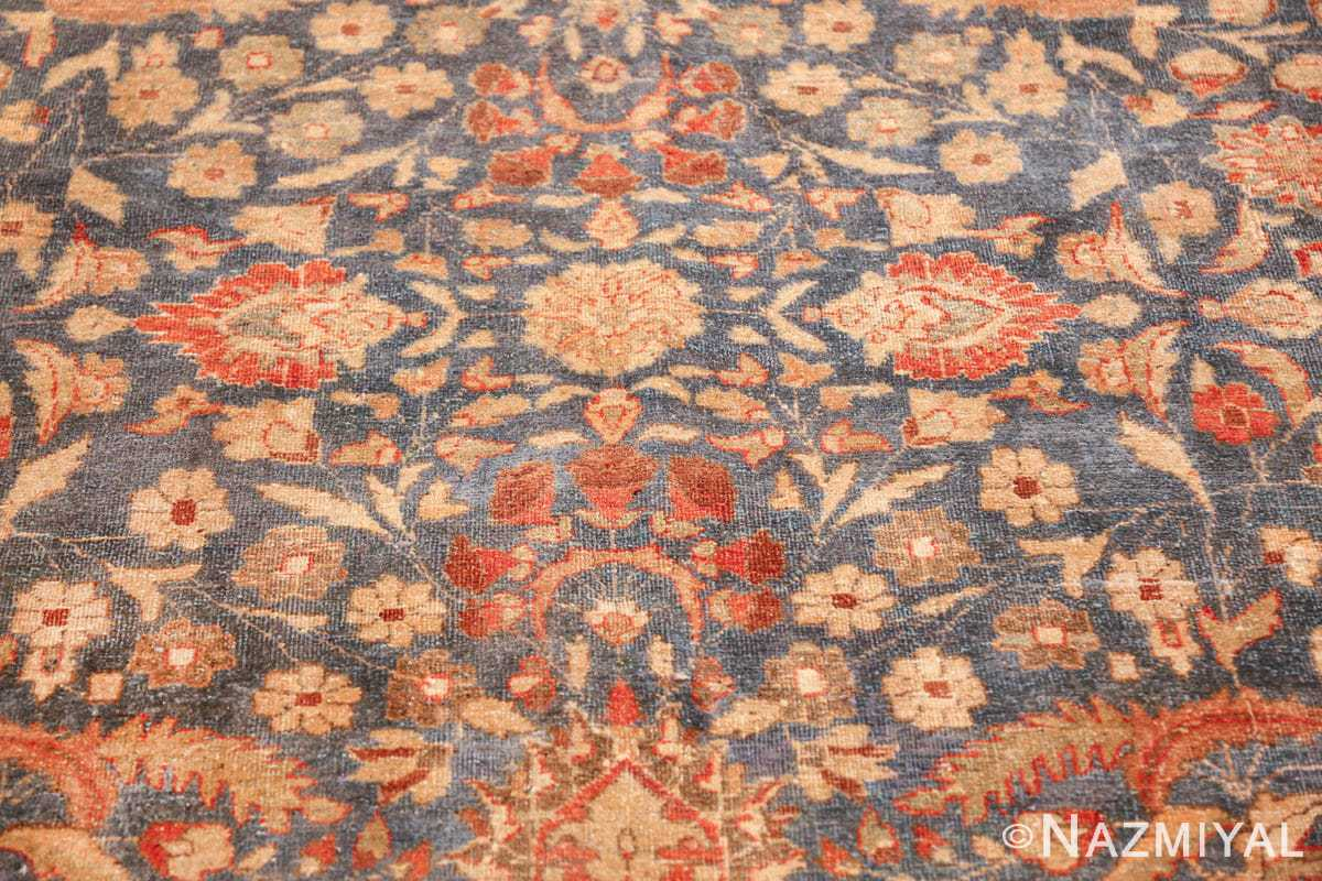gray background antique khorassan persian rug 49634 round Nazmiyal