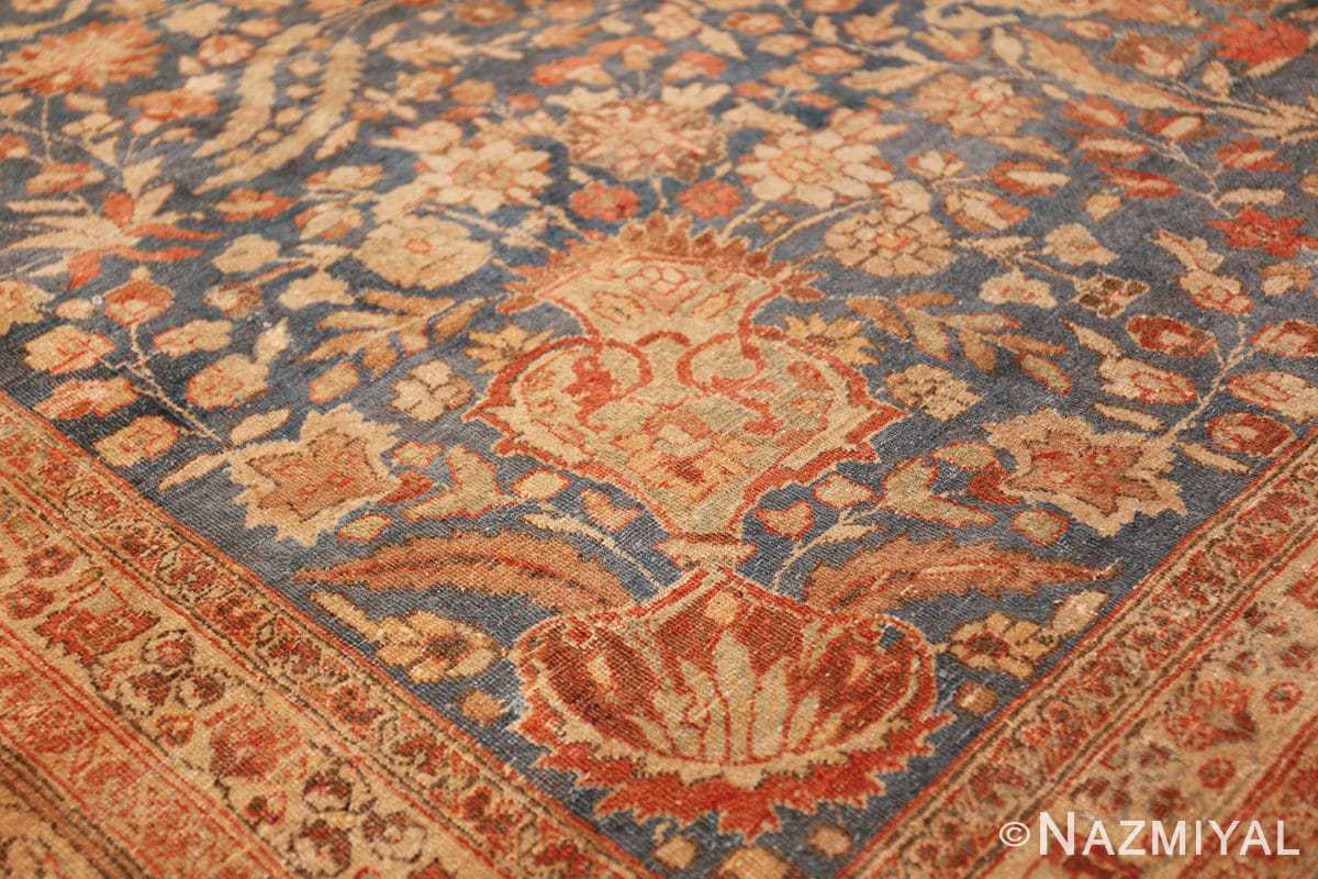 gray background antique khorassan persian rug 49634 vase Nazmiyal