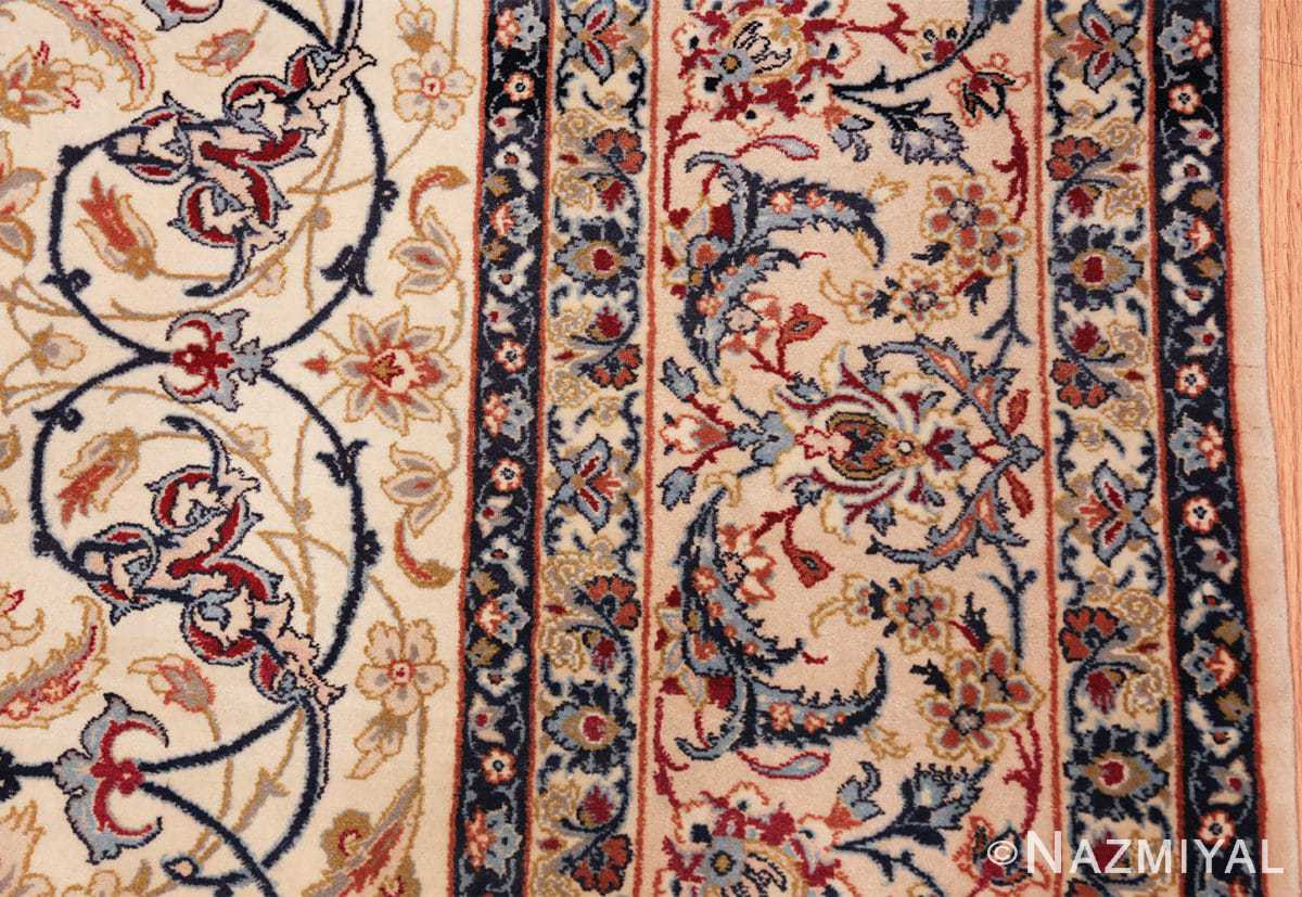ivory background vintage isfahan persian rug 49599 border Nazmiyal