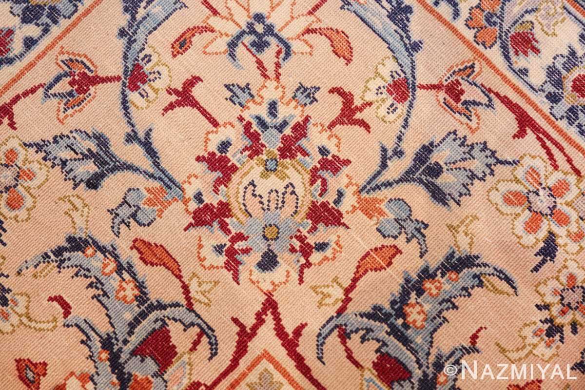 ivory background vintage isfahan persian rug 49599 knots Nazmiyal